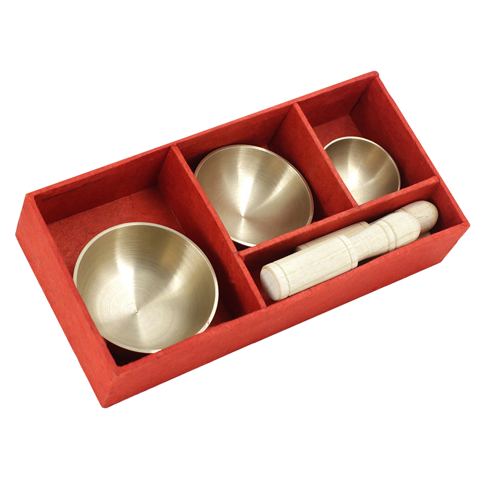 3pcs Bell Metal Singing Bowl Set 2 Mallets Mini Tibetan Singing Bowl Struck Bowl Buddhist Meditation Chanting Healing Relaxation enlarge