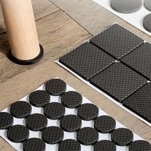 Schwarz Self Adhesive Möbel Bein Teppich Anti Scratch Boden Protektoren Stuhl Tisch Fuß Abdeckungen Anti Slip Möbel Stuhl Bein Caps