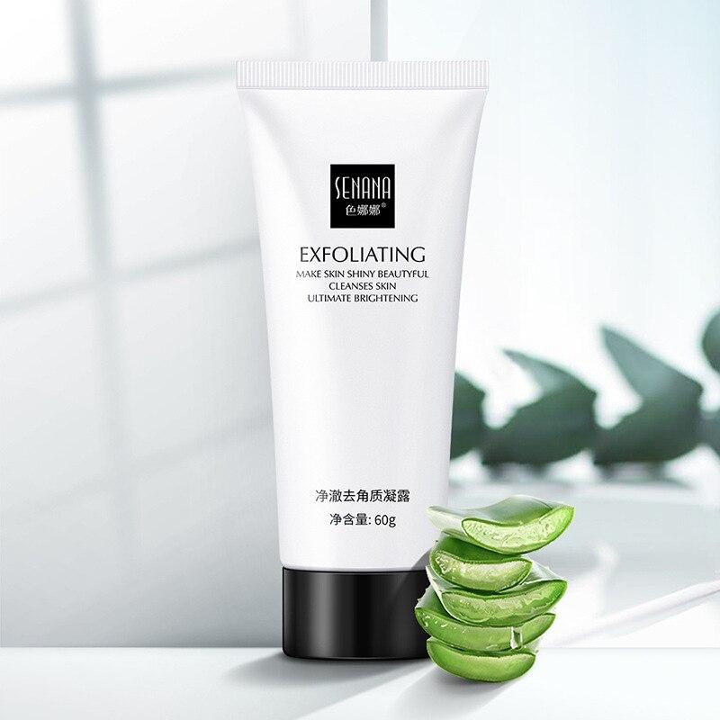 El Gel exfoliante de Aloe BLUETHIN hidrata la crema Facial orgánica suave exfoliante