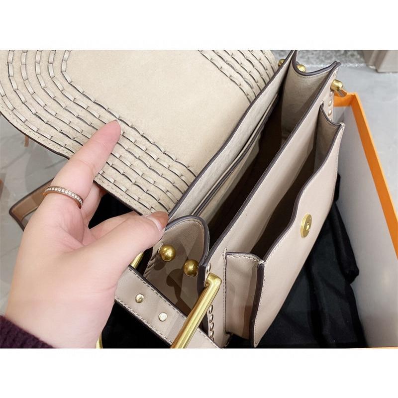 جلد طبيعي المرأة حقيبة فاخرة ماركة الموضة السرج حقيبة سيدة مصمم الكتف حقيبة ساعي 2021 خريف جديد حقيبة الإناث عادية