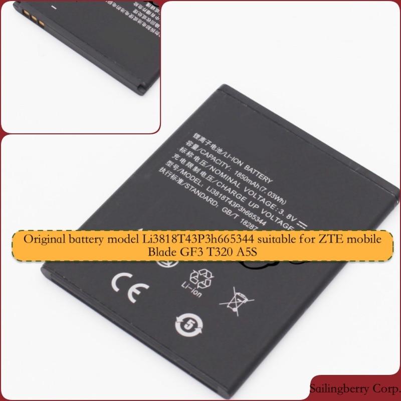 Batería Original adecuada para ZTE-mobile Blade GF3 T320 A5S con el modelo de batería Li3818T43P3h665344
