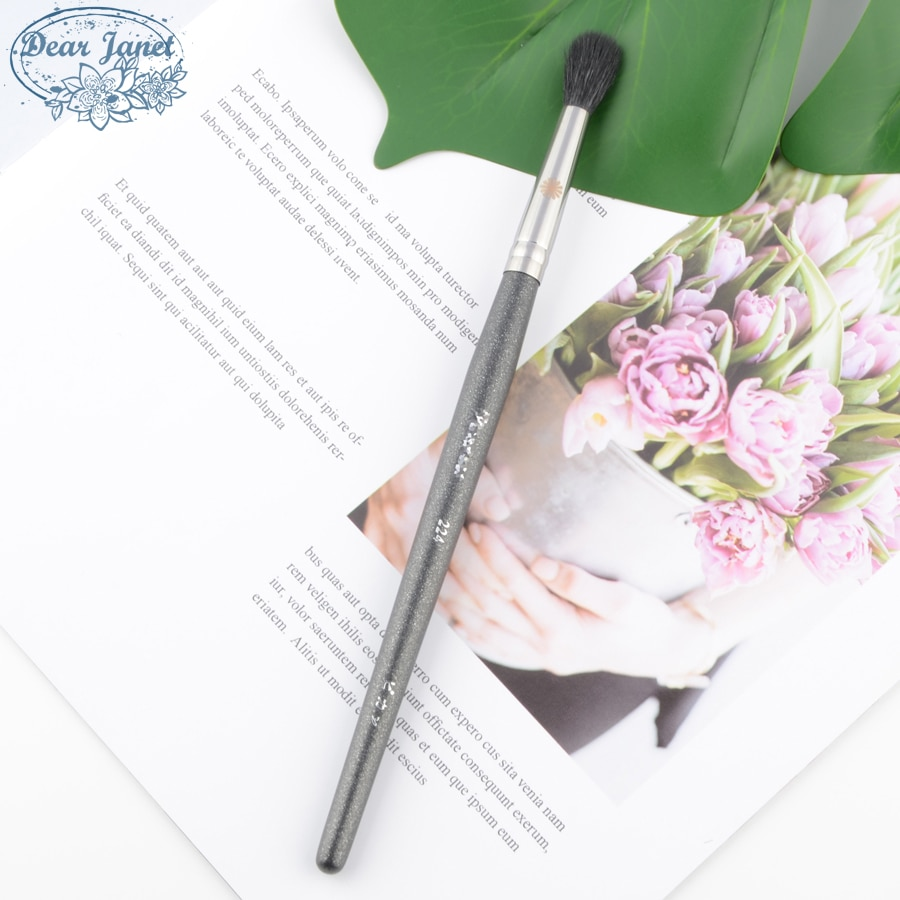 1 ud. De brochas de maquillaje para mezclar sombra de ojos P224, brocha de maquillaje para sombra de ojos, herramienta cosmética coreana profesional, pelo de cabra natural