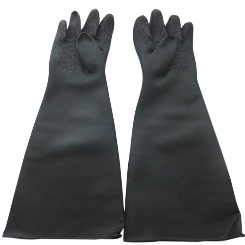 Guantes de chorro de arena para los guantes del Gabinete de chorro de arena 60x20cm-Dropship