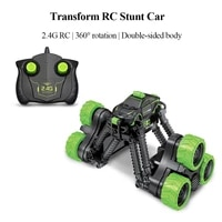 2 4g radio transform rc stunt car 360 degree spinning high speed telescopic kids toys remote control car trucks off road for boy