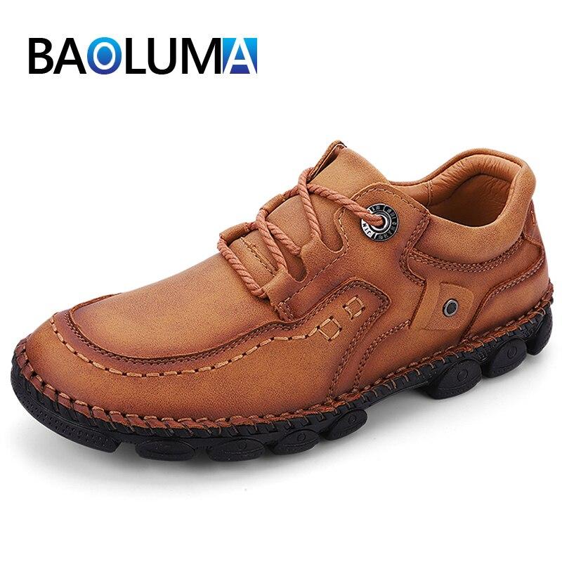 Classic Men's Shoes Hot Sale Fashion Men's Casual Shoes Handmade Leather Men's Moccasins British Sty