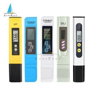 Digital PH EC TDS TEMP Meter Tester Temperature Pen Water Purity PPM Filter Hydroponic for Aquarium Pool Water Monitor