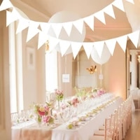 8m romantic pure knot white garland bunting flag wedding decoration fabric banners wedding party decoratio bridal shower bunting
