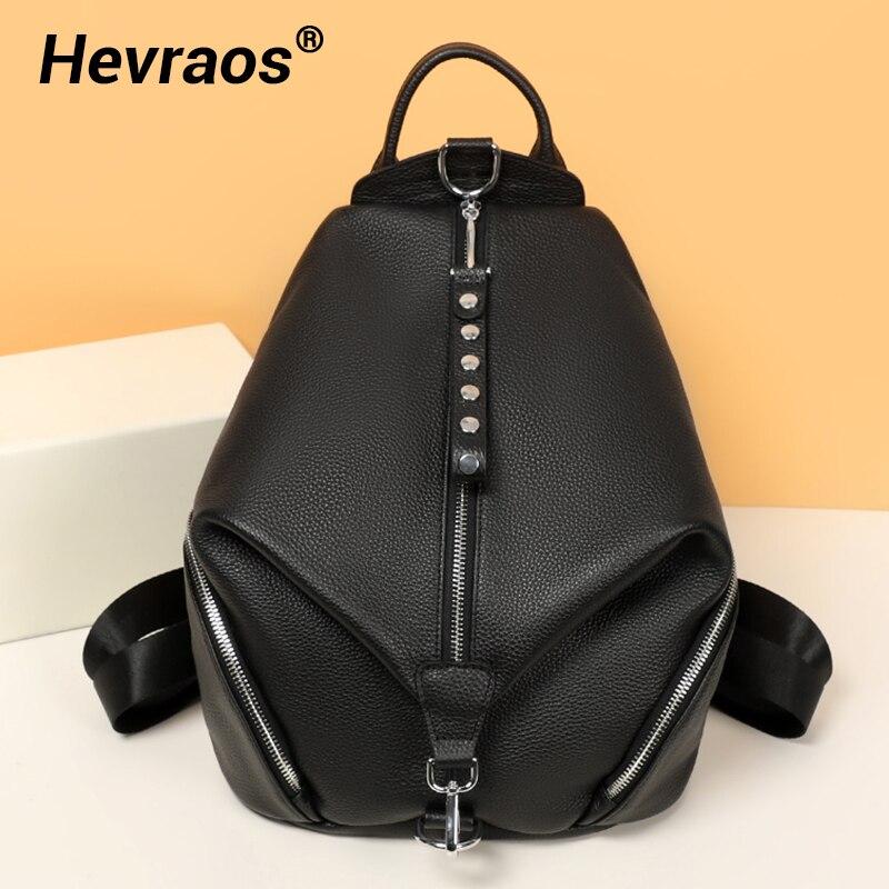 2021 حقيبة ظهر جديدة للنساء جلد طبيعي كبير حقيبة ظهر للسفر مكافحة سرقة الفتيات Shoolbags الإناث يوم على ظهره Feminin Mochilas