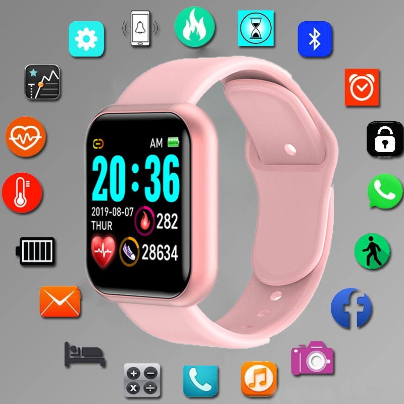 Digital Smart sport watch Women watches digital led electronic wristwatch Bluetooth fitness wristwat