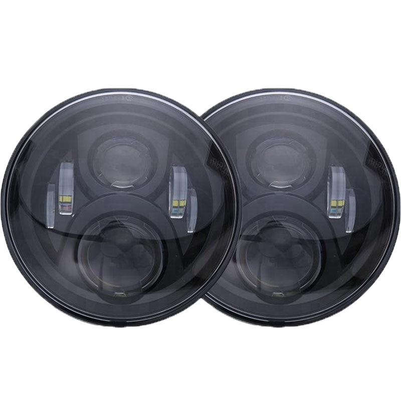 1pcs Round Jeeps Motorcycle Wanglers Headlight 7inch 45W 6Leds Headlamp Waterproof DRL High Low Beam