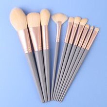 10 Blue Bridge Makeup Brushes Set Powder EyeShadow Blending Eyeliner Eyelash Eyebrow Make Up Beauty