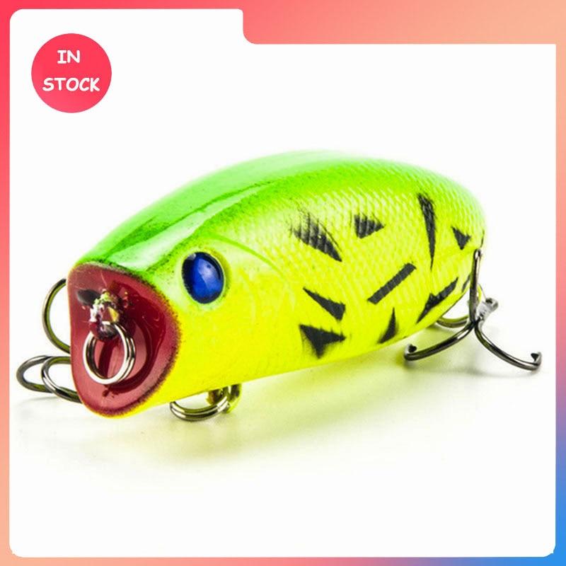 New Arrival 1pcs 11g 5.5cm Big Popper Fishing Lures 3D Eyes Bait Crankbait Wobblers Tackle Isca Poper Japan HQ007