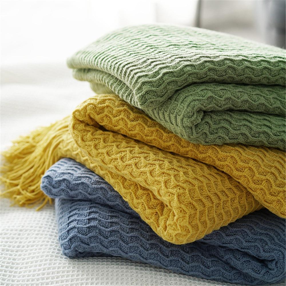 Manta de tela escocesa con diseño de espiguilla, funda suave para sofá o cama para adultos/sofá/avión/viaje/colcha para coche