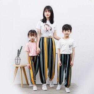 Детские трусы-шортики, летний костюм для мальчиков, анти-Противомоскитные штаны для девочек Тонкие штаны для взрослых, большие детские жилеты из хлопка с графикой из светлого шелка.