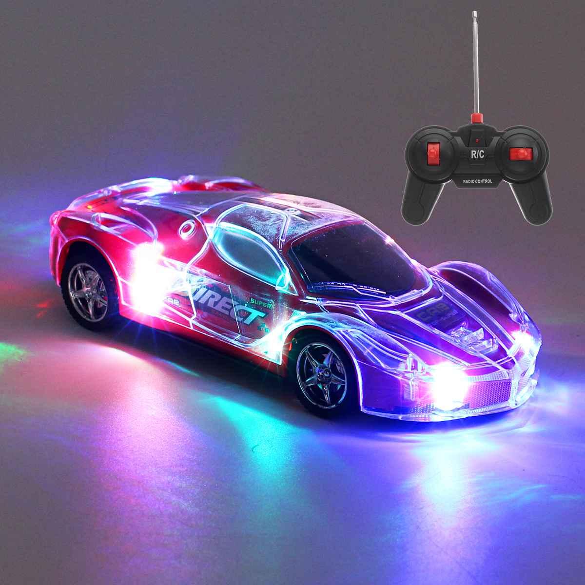 1/24 RC автомобиль с дистанционным управлением, скоростной гоночный автомобиль с 3D огнями, АБС-пластик, RC автомобиль, игрушка, дети, день рожден...