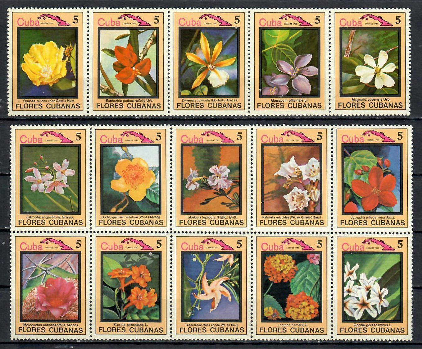 "Cuba 1983 ""flora y fauna-Flores"" MNH"