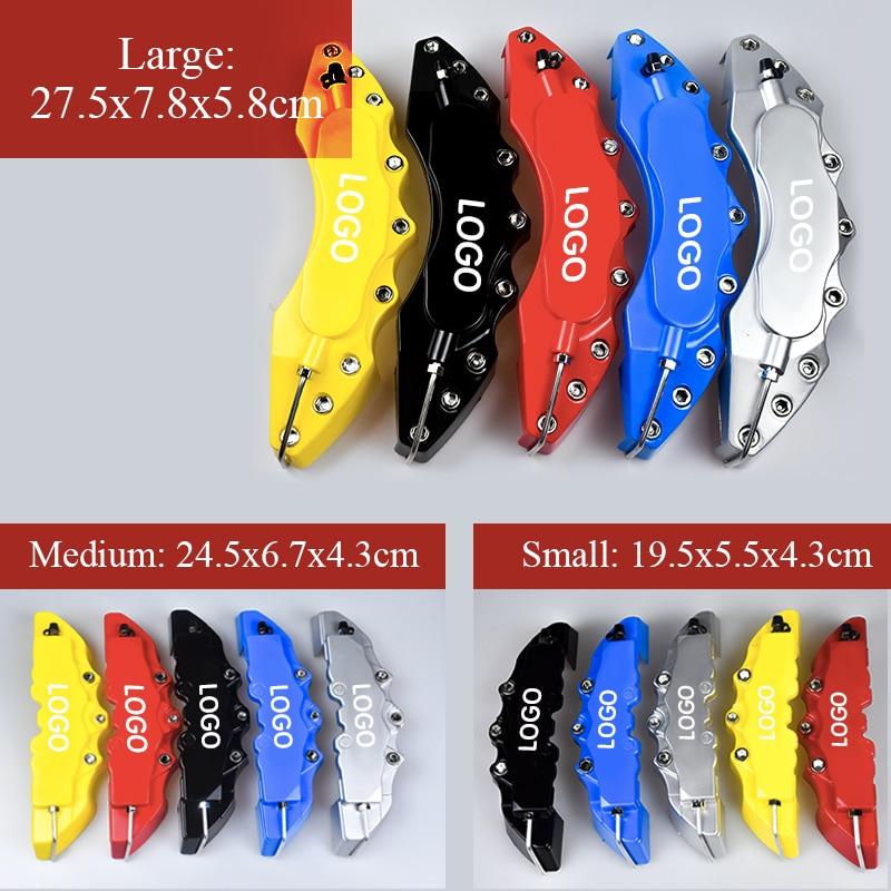 Pinzas de freno para coche, 2 uds., tamaño S/M/L, 3D ABS, cubierta de freno de disco para Verna celesta Elantra MISTRA SONATA ix25 ix25 Tucson Santafe