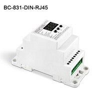 BC-831-DIN-RJ45 DC12-24V input 10A*1CH outputConstant voltage DIN Rail DMX512 Decoder digital tube display for led strip