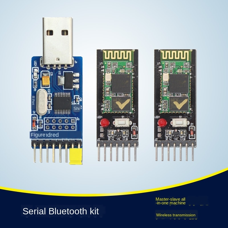 HC-05 Bluetooth Serial Port módulo Bluetooth Kit Compatible Arduino Bluetooth Serial Port inalámbrico 3V 5V