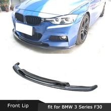 Lèvre de pare-chocs avant en Fiber de carbone/FRP pour BMW série 3 F30 F35 M Sport 320i 325i 328i 330i 2012-2018 V Style becquet de menton