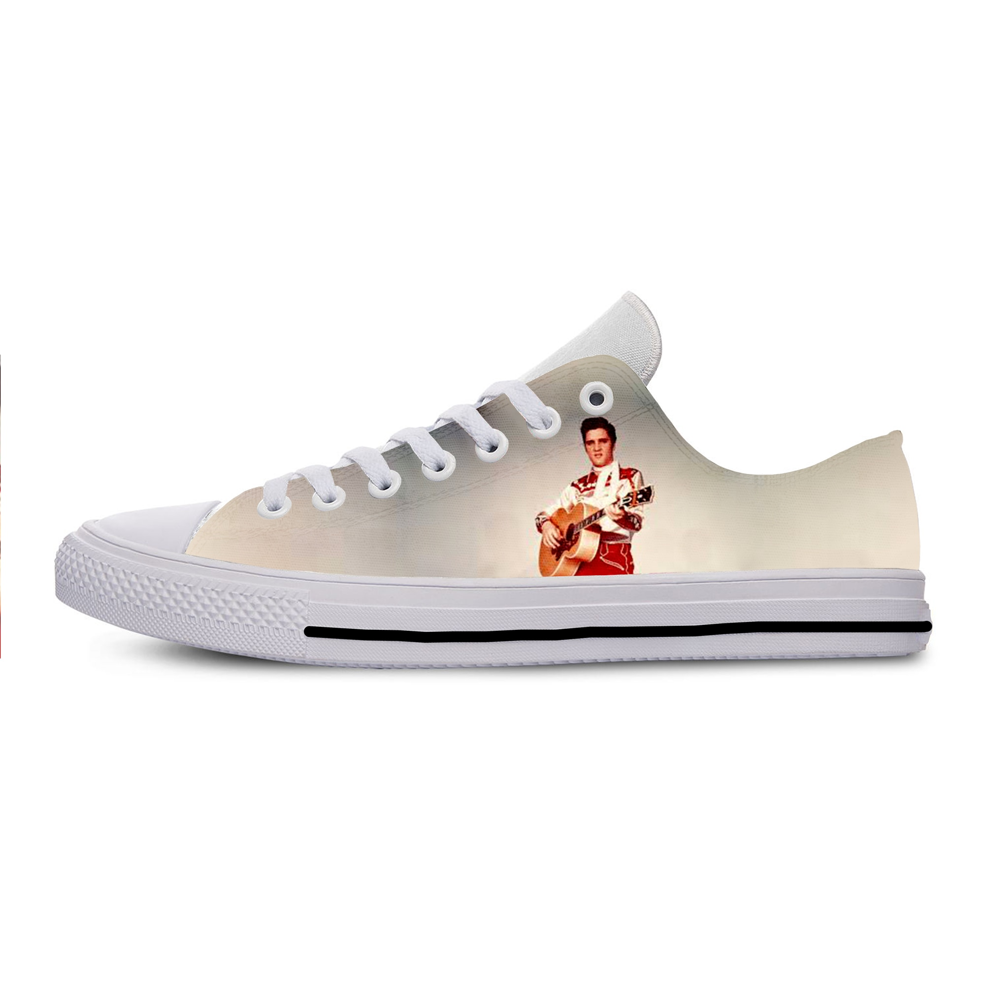 2019 Hot Cool Fashion Pop Funny Summer Rock and Roll Sneakers Handiness Casual Shoes 3D Printed For Men Women Elvis Presley