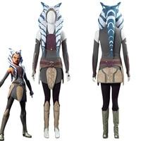 star cosplay wa rebels ahsoka tano cosplay costume outfits full suit halloween carnival ahsoka tano costumes custom made