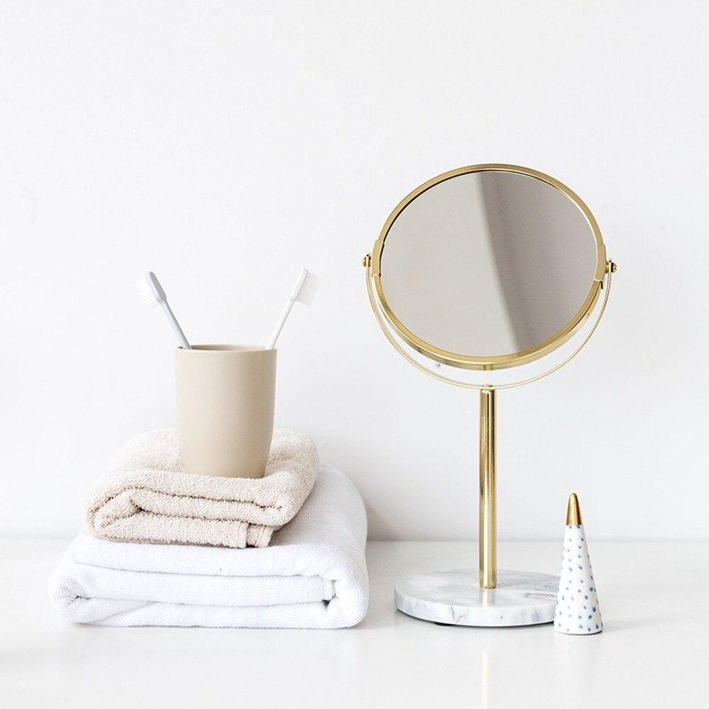 سطح المكتب الأميرة مرآة الإبداعية سطح المكتب مرآة تزين الرخام مرآة لوضع مساحيق التجميل فتاة القلب مرآة يشكلون مرآة خفيفة