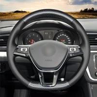 diy anti slip wear resistant steering wheel cover for volkswagen golf 7 polo passat variant touareg car interior decoration