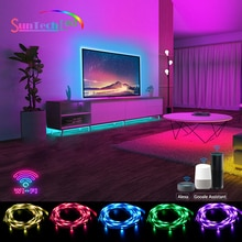 Suntech WiFi Led Strip, SMD5050 Led Lights Compatible With Alexa,Google Home, Smart Color Changing R