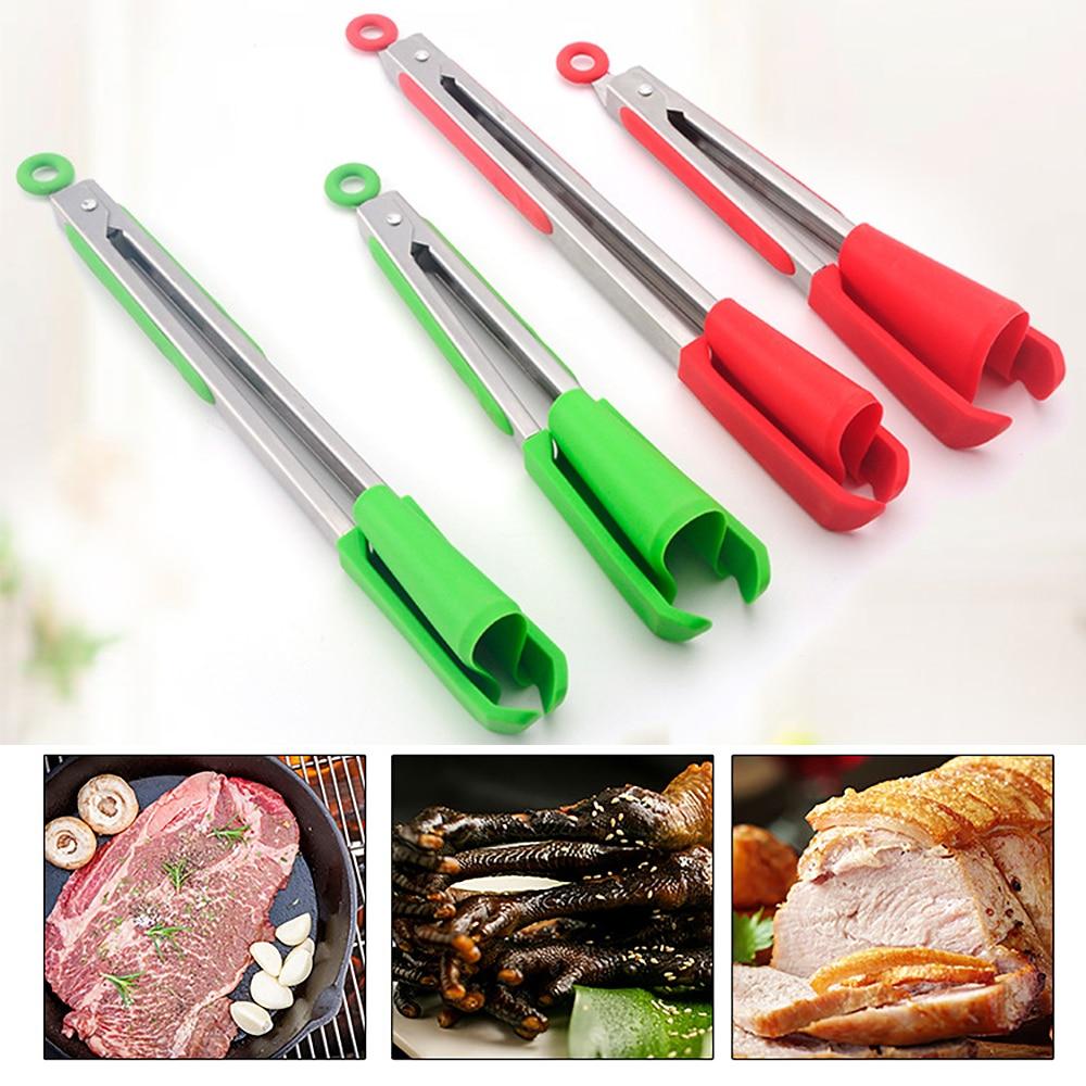 Espátula y pinzas de cocina 2 en 1 de 9/12 pulgadas, antiadherente, resistente al calor, pinza de silicona siamesa multifuncional para alimentos