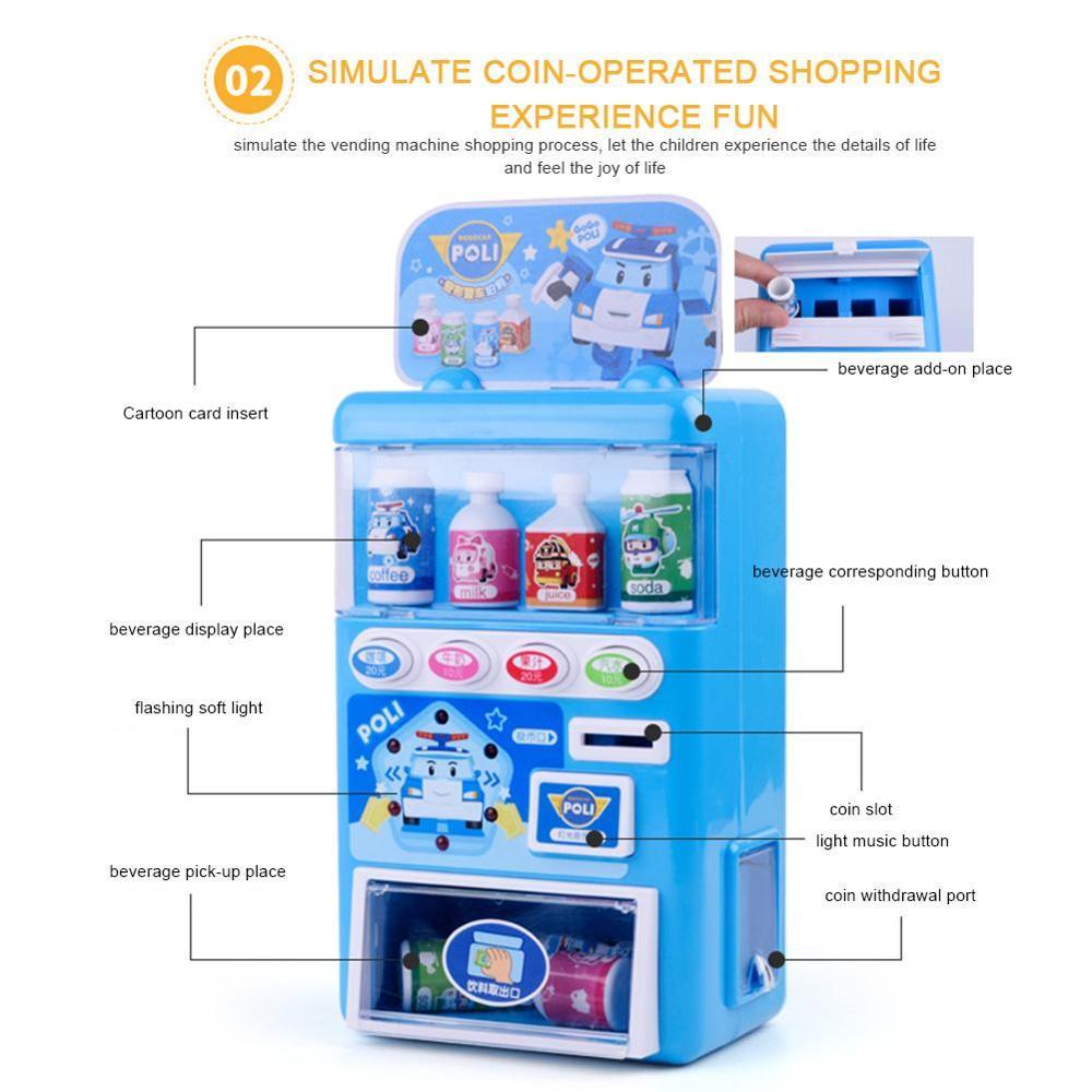 Simulación de Casa de juego para niños máquina expendedora de aperitivos pequeños juguetes que suenan coloridos accesorios educativos para la Infancia