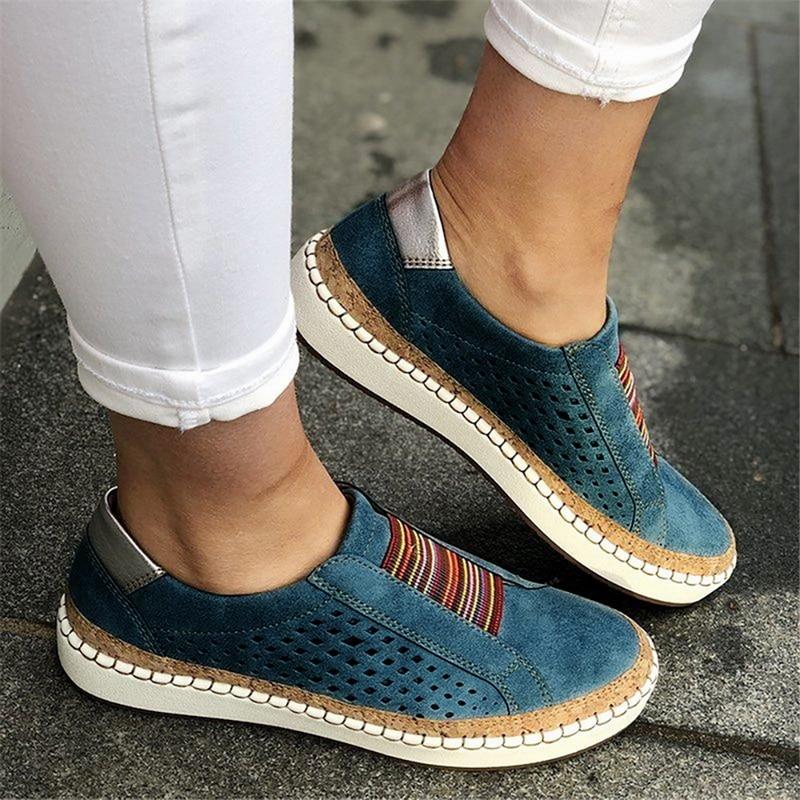 Loafers de couro feminino sapatos casuais mulher deslizamento na sapatilha confortável loafers mulher apartamentos tenis feminino zapatos de mujer