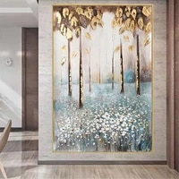 large gold leaf wall art paintings hand painted modern abstract oil painting on canvas picture for living room home office decor