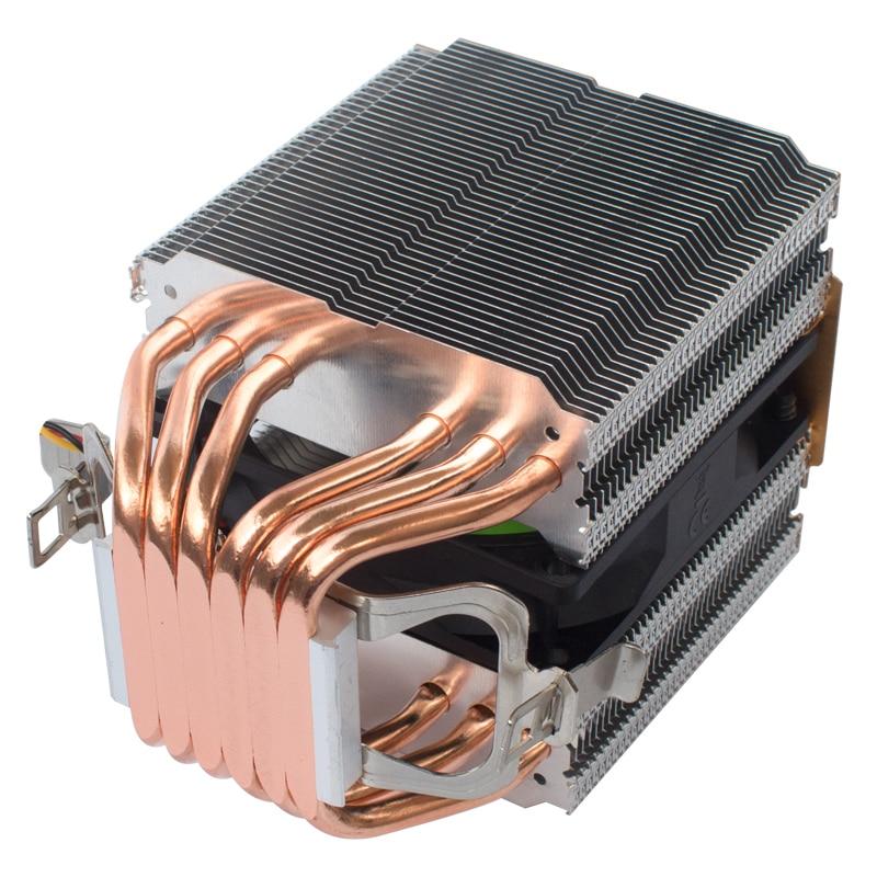 ARSYLID CZ609P X79 X99 التبريد 3 المشجعين 9 سنتيمتر 4pin مروحة 6 heatpipe وحدة المعالجة المركزية برودة ل إنتل LGA1150 1366 2011 ل AMD AM3 AM4 المبرد
