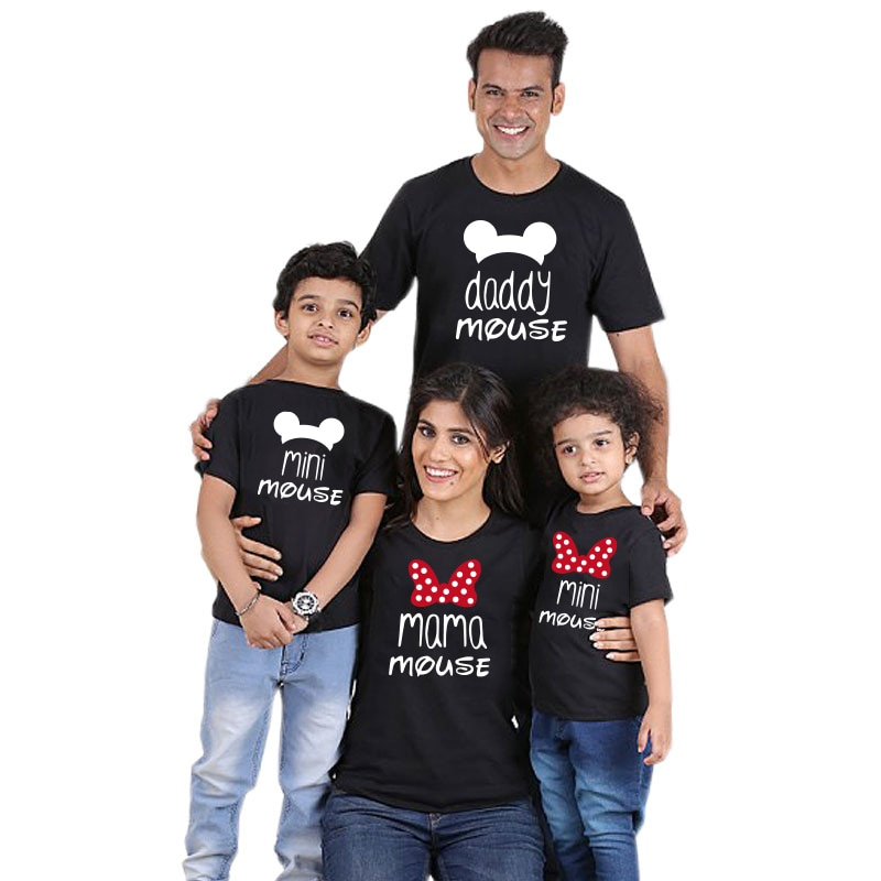 Family Look Shirt Mommy and Me Clothes Cotton T-shirt dad baby girl Tops Father Mother Daughter Son matching family outfits look