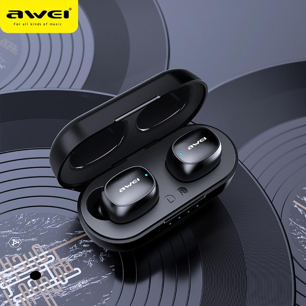 AWEI TWS Bluetooth Earphones Stereo Wireless 5.0 Bluetooth Wireless Stereo Headphones Touch Sensor Control Music Earphone T13