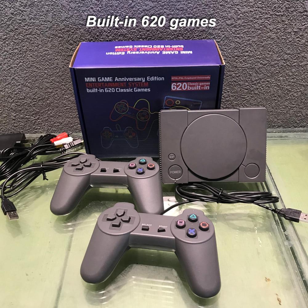Consola de juegos clásica de 8 bits PS1 Mini Home 620, sistema de entretenimiento entusiasta, consola de juegos Retro de doble batalla