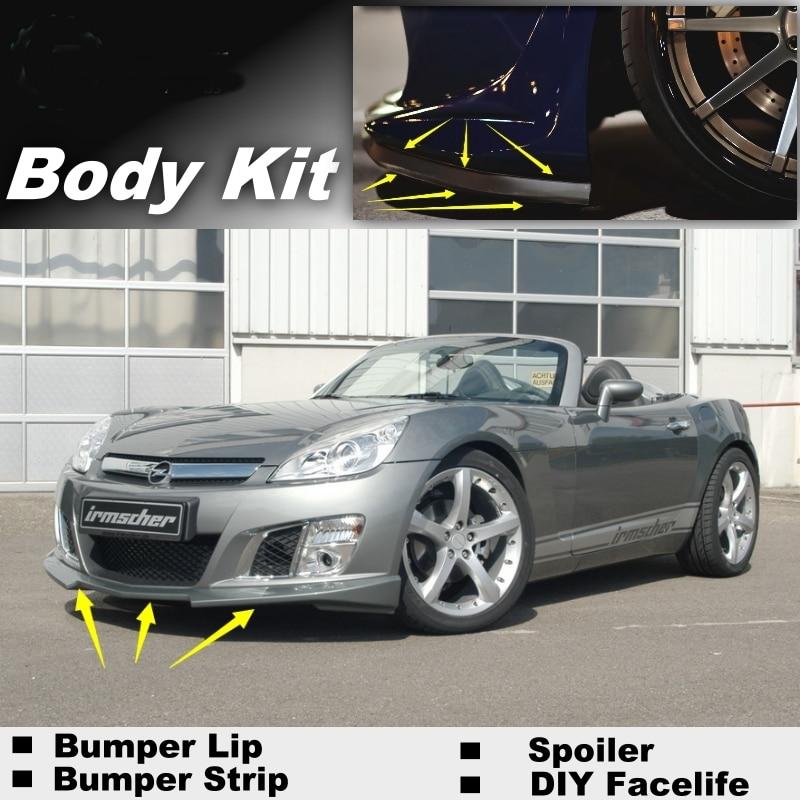 Deflector de labios parachoques para Opel GT, para Saturno Sky, para Daewoo G2X 2007 ~ 2010, falda delantera, Kit de tira para carrocería