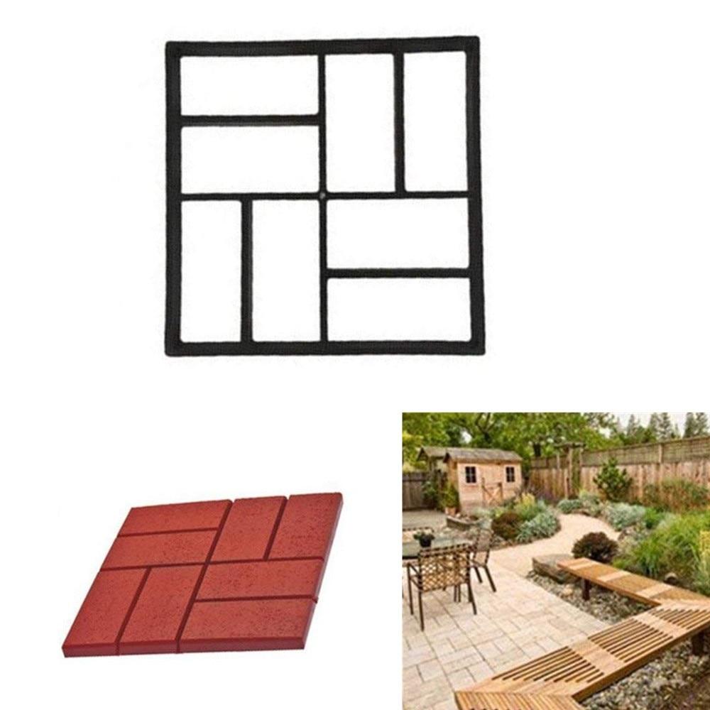 Molde pavimentador, molde para jardín, molde para construir pavimentos, modelo Irregular, molde de hormigón paso a paso, molde de cemento, herramientas para el jardín DIY JU25