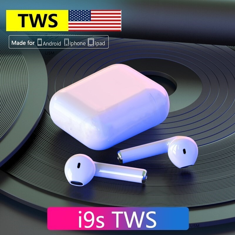 I9S TWS Wireless headphones Bluetooth 5.0 Earphones sport Earbuds Headset With Mic For iPhone Xiaomi Samsung Huawei PK I12 I7S new x12 tws bluetooth headphones earbuds hifi sport wireless earphones noise reduction in ear headset for i9000 i12 pro i7s i9s