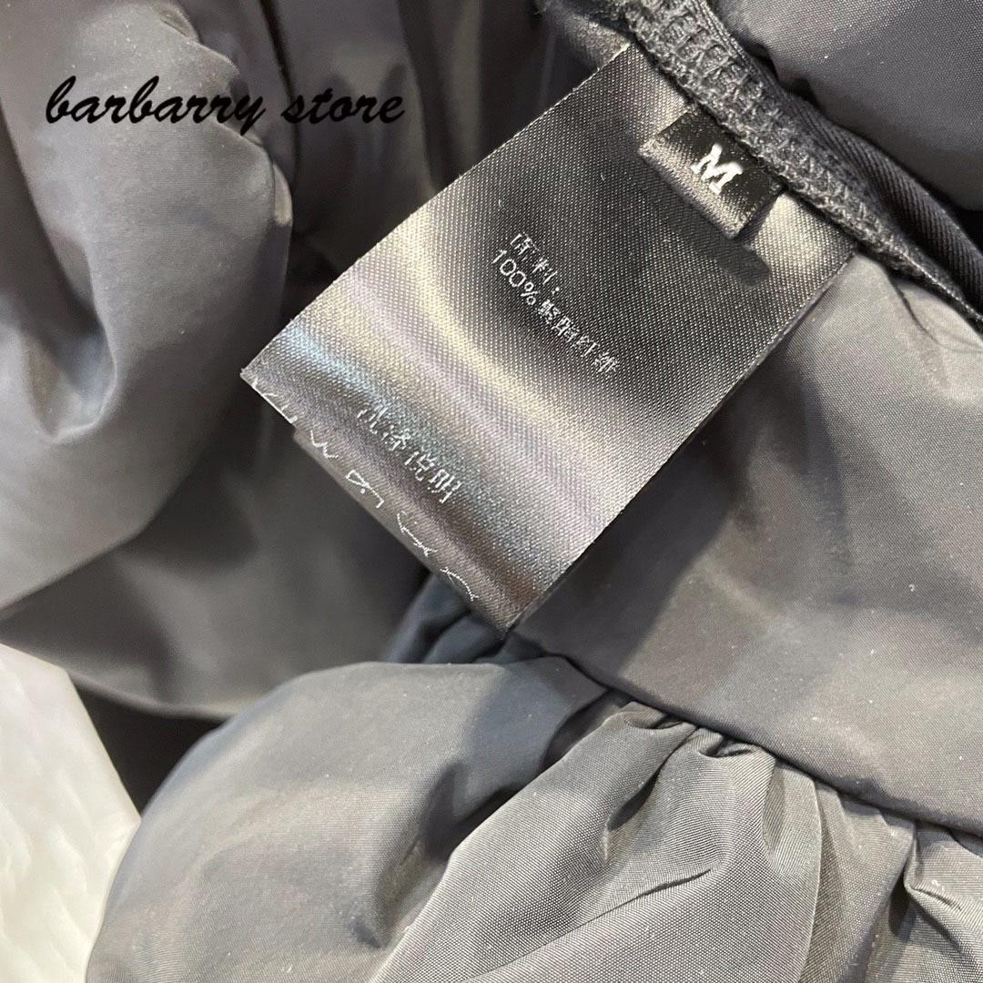 2021 luxury brand retro fashion women's top temperament round neck versatile slim fit stitching bubble hem long sleeve T-shirt enlarge