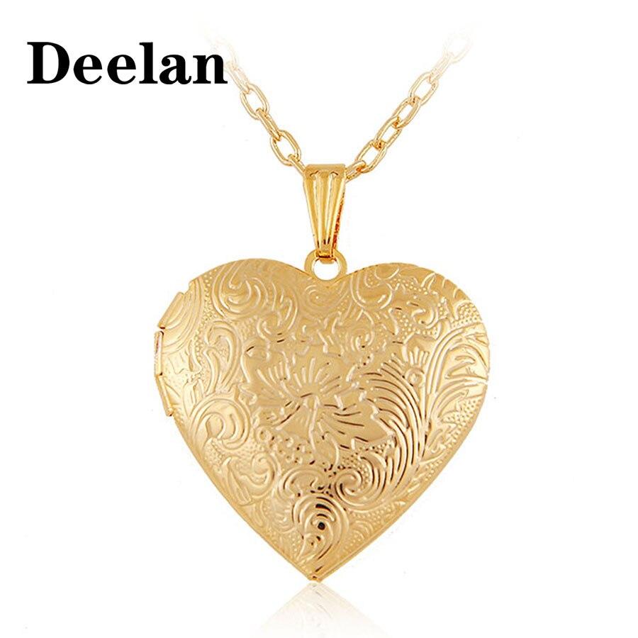Gorjuss flotante encanto medallón collar color dorado moda amante romántico corazón foto niños amistad colgante collares Mujer