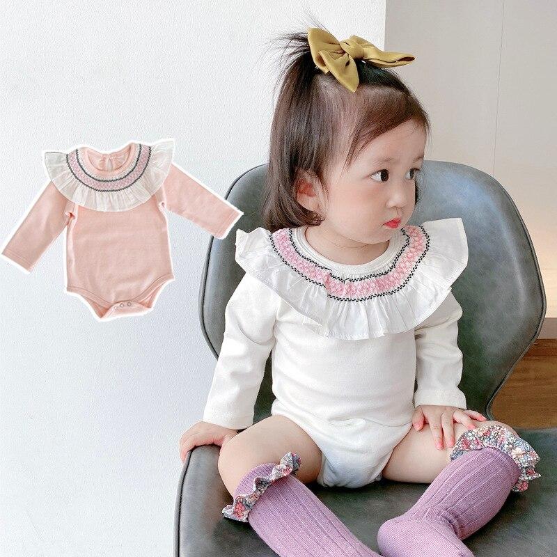 2021 ins nova moda bebe macacao meninas do bebe manga longa bodysuits roupas de bebe macacoes