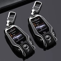 new led smart display car key case cover for bmw 1 3 5 7 series x1 x3 x5 x6 x7 f30 g20 f34 f31 g30 g01 f15 g05 i3 m4 fob key bag
