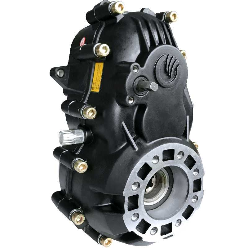 Accesorios para triciclo eléctrico, diferencial, diferencial de motor de engranaje dividido, conjunto caja de cambios de reducción