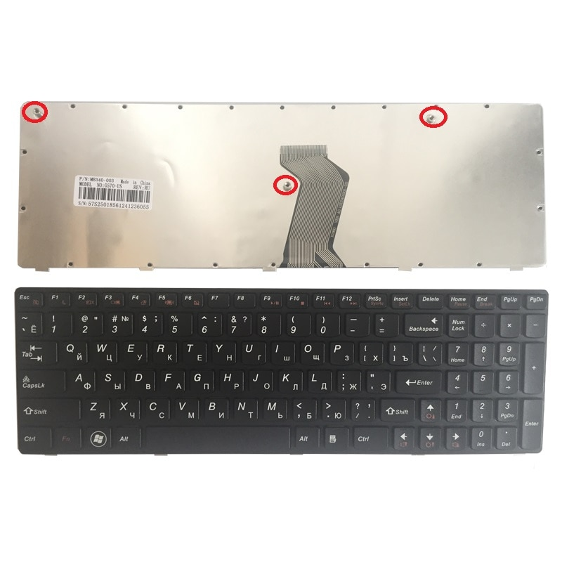 NEW Russian keyboard for IBM LENOVO Ideapad G575 G570 Z560 Z560A Z560G Z565 G570AH G570G G575AC G575AL G575GL RU laptop keyboard
