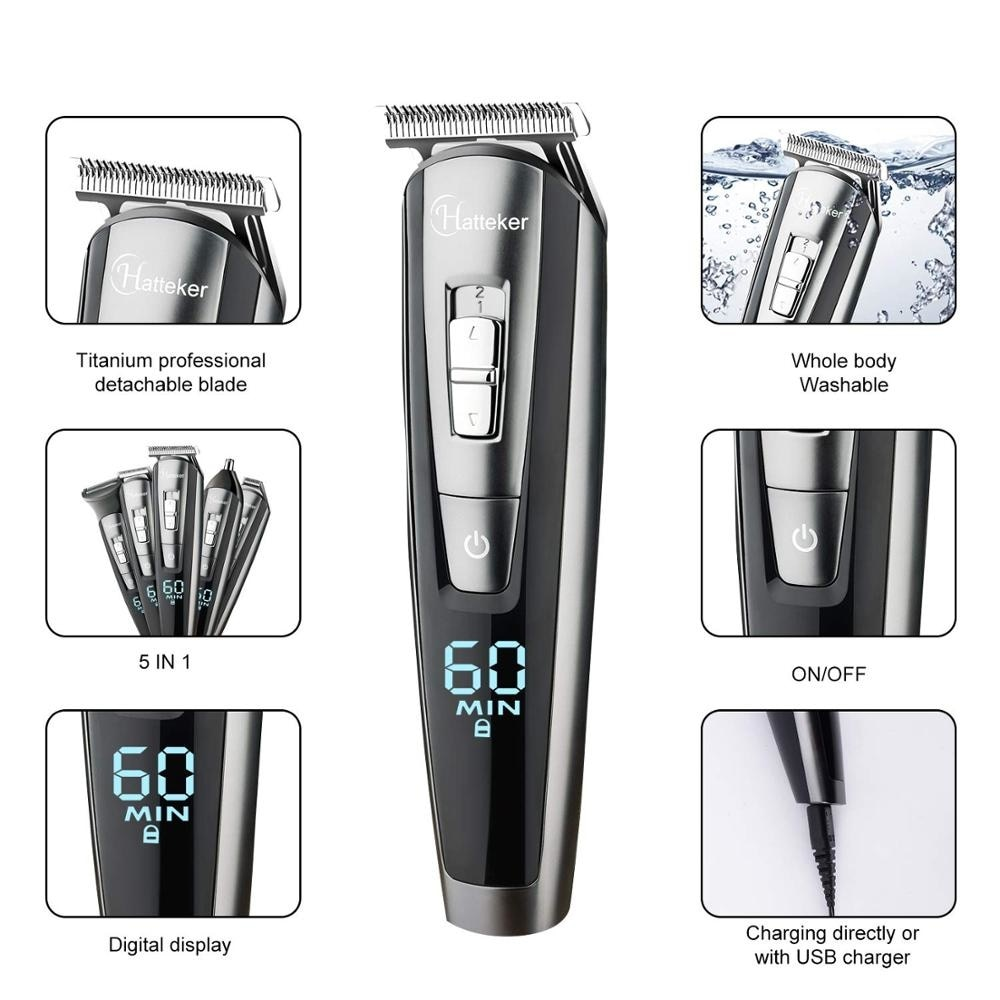 All in one wet dry hair trimmer beard grooming trimer facial body hair clipper professional hair cutting machine set for men enlarge