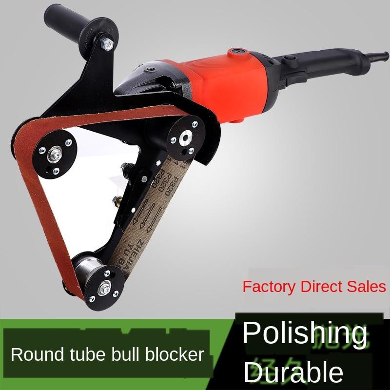 الفولاذ المقاوم للصدأ الأنابيب المستديرة آلة الرسم آلة تلميع حزام رملي ماكينة الطحن