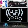 12 قطعة زخرفة بيضاء زخرفة Ket لوحة القيادة الداخلية غطاء مقبض الباب تكييف الهواء تنفيس ل جيب رانجلر 2011-2018 سيارة التصميم