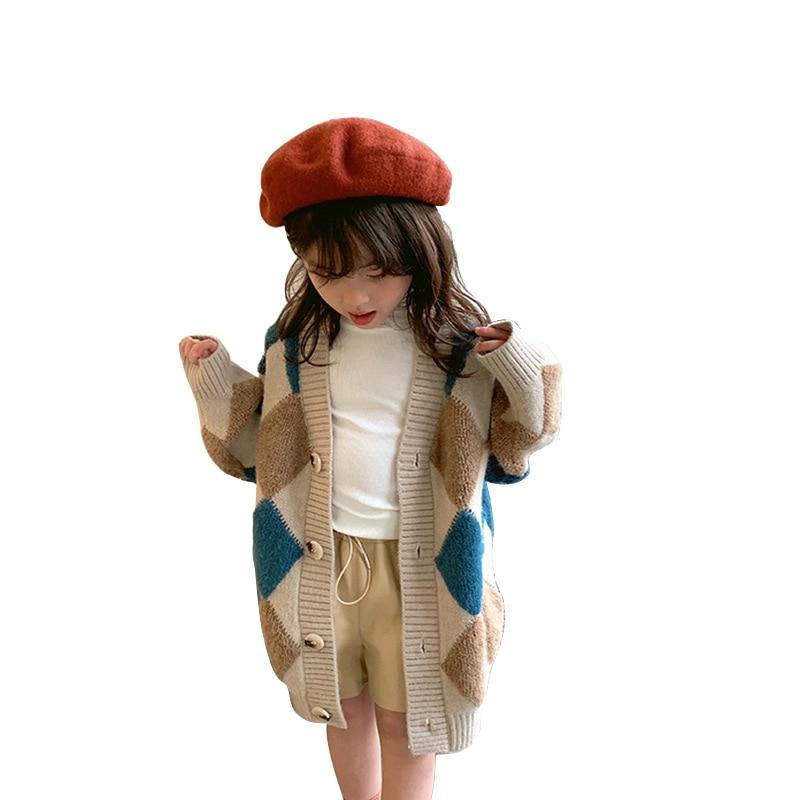 سترة كارديجان بعمر 6 - 12 سنة للفتيات المراهقات بأكمام طويلة معاطف منسوجة موضة 2022 وصل حديثًا ملابس أطفال لربيع وشتاء وخريف